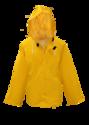 Large Yellow Lined PVC Rain Jacket