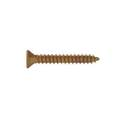 8 x 1-Inch Brass Plated Flat Head Phillips Metal Screw, 60-Pack