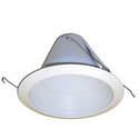4-Inch White Opal Lens Shower Trim