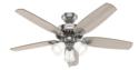 52-Inch Builder Plus 3-Light Brushed Nickel Ceiling Fan