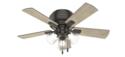 42-Inch Crestfield Low-Profile 3-Light Noble Bronze Ceiling Fan