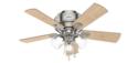 42-Inch Crestfield Low-Profile 3-Light Brushed Nickel Ceiling Fan