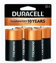 4-Pack Duracell D Batteries