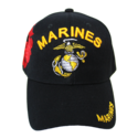 Black Shadow Embroidery Marines Cap