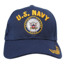 Navy Blue U.s. Navy Shadow Embroidery Cap