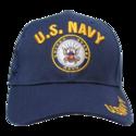 Navy Blue U.s. Navy Shadow Embroidery Cap
