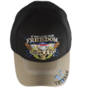 Black Thank A Vet Embroidered Cap