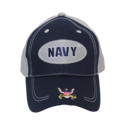 Oval Navy Logo Cap