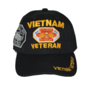 Black Vietnam Veteran Shadow Embroidery Cap