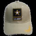 Khaki Army Shadow Embroidery Cap