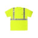 Alternate Image for Key Industries 828.39 X-Large Hi Visibility Yellow A.N.S.I. Class 3 Waffle Knit Short Sleeve Pocket T-Shirt