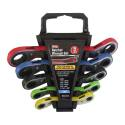 5-Piece Metric Offset Ratchet Wrench Set With Rack