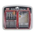 20-Piece Quick Change Drill And Drive Bit Set With Case