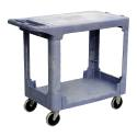 Tall Plastic Service Cart With 2 Shelves