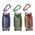 3-Piece Folding Pocket Hex Key Wrench Set With Key Chain