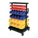 Double-Sided Part And Hardware Storage Rack With 60 Removable Bins