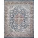 5-Foot X 7-Foot 6-Inch Denim Terra Cotta Lucca Area Rug By Joanna Gaines
