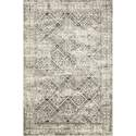 5-Foot X 7-Foot 6-Inch Ivory Black Lotus Area Rug By Joanna Gaines