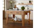 Alternate Image for Magnolia Home 6010144I Kitchen Island In Bench Finish