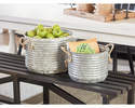 Alternate Image for Magnolia Home 90901015 Galvanized Apple Buckets With Rope Handles