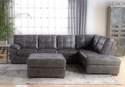 Bentley Gray Tufted Left Arm Facing Sofa