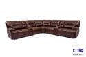 7-Piece Brown Reclining Living Room Sectional