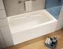 60-Inch X 30-Inch X 21-Inch White Left-Hand Avenue Bathtub
