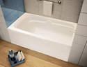 60-Inch X 30-Inch X 21-Inch White Right-Hand Avenue Bathtub