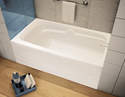 60 x 30 x 21-Inch White Right-Hand Avenue Bathtub