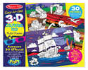 Melissa & Doug 9964 Easy To See 3d Coloring Pad Multi Theme Blue