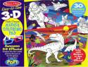 Easy-To-See 3d Space And Dinosaurs Coloring Puzzles