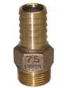 3/4-Inch Bronze Male Adapter With Hex