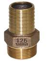 1-1/4-Inch Bronze Male Adapter With Hex