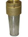 1-1/4-Inch Brass Foot Valve