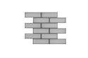 12 x 12-Inch Ice Beveled Subway Tile