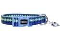 Medium Pluto Blue Waves Neoprene Dog Collar