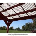 8-Foot X 26-Inch White Fiberglass Super 600 Corrugated Roofing Panel