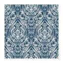 Indigo Blue Bohemian Damask Decorative Wallpaper