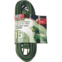 Power Zone OR780615 Ext Cord 16/2 Spt-2 Green 15 Ft