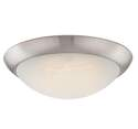 11-Inch Brushed Nickel LED Flush Mount Ceiling Fixture