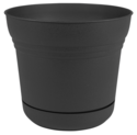 14-Inch Saturn Charcoal Planter