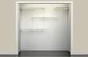 5 - 8-Foot White Closet Organizer