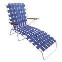 Blue Folding Lounge Chair
