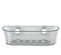 Large Gray Impress Suction Basket