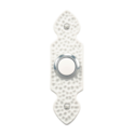 Hammered White, Wired Push Button Doorbell With Lighted Center Button