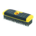 7 x 2-1/2-Inch Carbon Steel Wire Brush With Soft Grip Handle