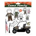 Camo Family Vinyl Adhesive Window Decal Set, 28-Piece