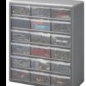 18-Drawer Gray Storage Cabinet