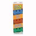 Multi-Colored Scrubber Foam Sponges, 3-Pack