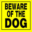 11 x 11-Inch Beware Of Dog Sign